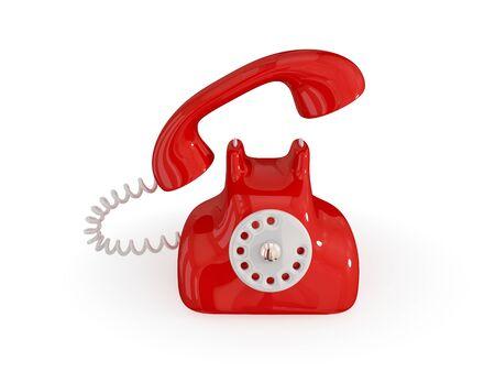 Cartoon retro telephone. Isolated on white background.3d rendered. Stock Photo - 12172176