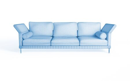3d rendering of a modern sofa. Isolated on white background photo