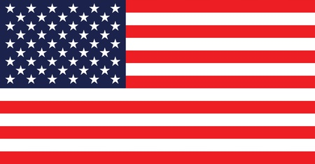 banderas america: EE.UU. bandera. 3d rindi�. Aislado sobre fondo blanco.