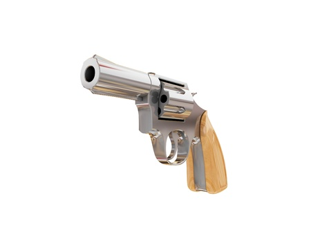 magnum: Revolver. 3d rendered. Isolated on white background.