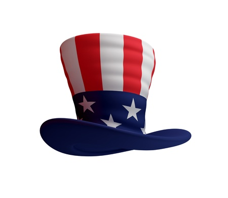 Uncle's Sam hat. 3d rendered. Isolated on white background. Stock Photo - 12166644