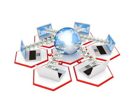 Network concept. 3d rendered. Isolated on white background. photo