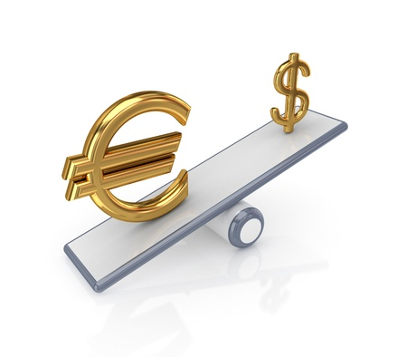 Forex concept. Isolated on white background.3d rendered. photo