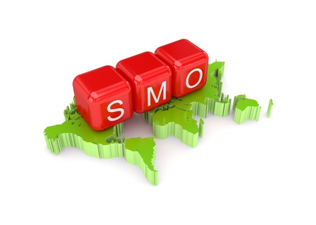 smo: SMO concept. Isolated on white background.3d rendered.