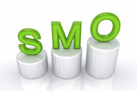 smo: Profit concept. Isolated on white background.3d rendered. Stock Photo