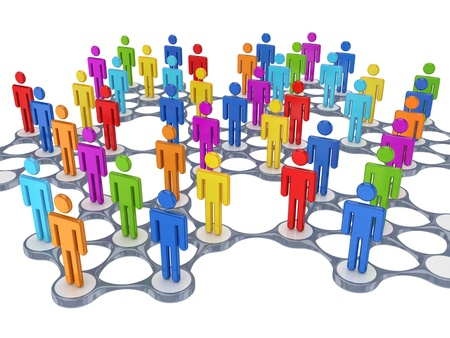 Social network concept.Isolated on white background.3d rendered. photo