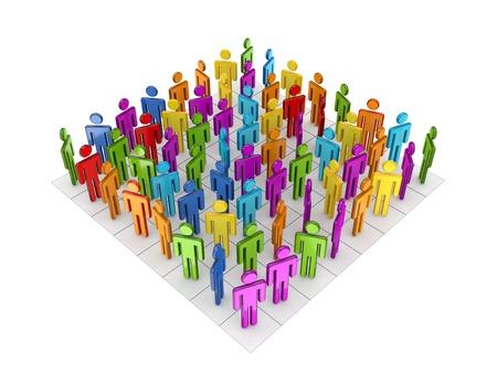 Concept de réseau social. Isolé sur fond blanc.