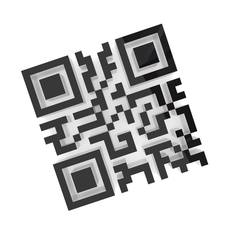 passcode: QR code. Isolated on white background. 3d rendered. Stock Photo
