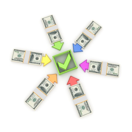 Investments concept. Isolated on white background.3d rendered. Stock Photo - 12218709