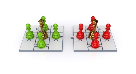 Teamwork concept. Isolated on white background. 3d rendered. photo