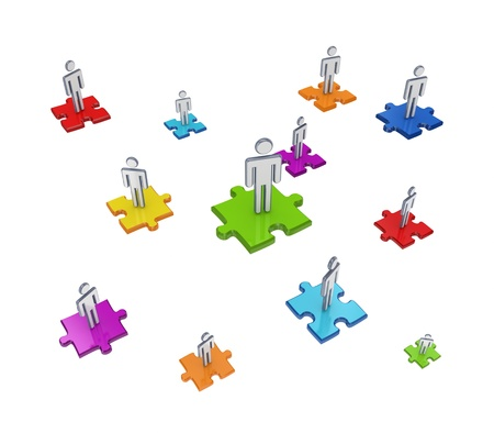 Teamwork concept. Isolated on white background.3d rendered. Stock Photo - 12224506