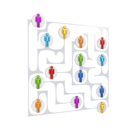 Social network concept. Isolated on white background.3d rendered. photo
