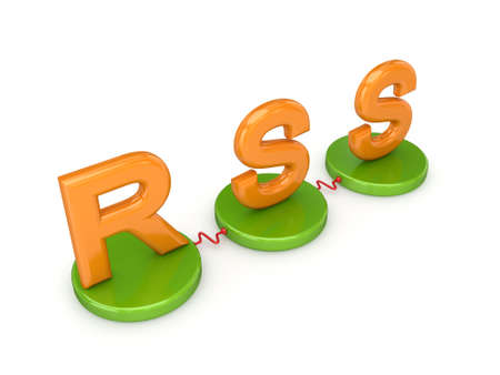 Word RSS. Isolated on white background. 3d rendered. Stock Photo - 12223201