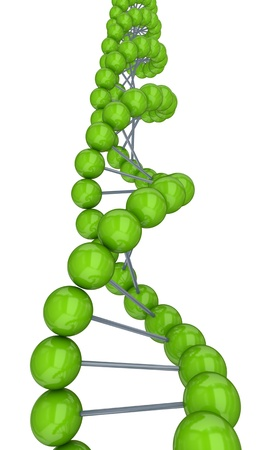 Stylized DNA symbol.Isolated on white background.3d rendered. Stock Photo - 12175493