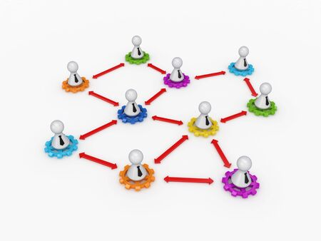Business network concept.Isolated on white background.3d rendered. photo