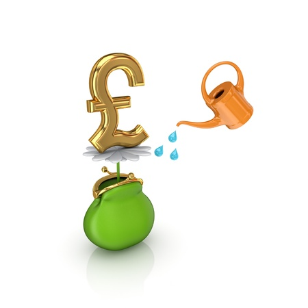 Investments concept. Isolated on white background.3d rendered. photo