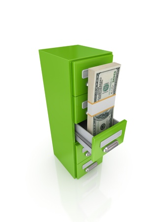 Money store concept.Isolated on white background.3d rendered. Stock Photo - 12220086