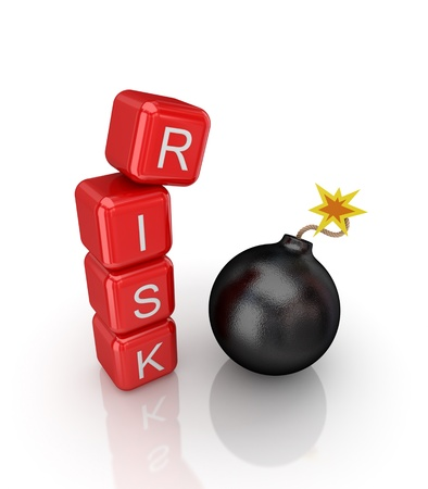 Risk concept. Isolated on white background.3d rendered. Stock Photo - 12175866