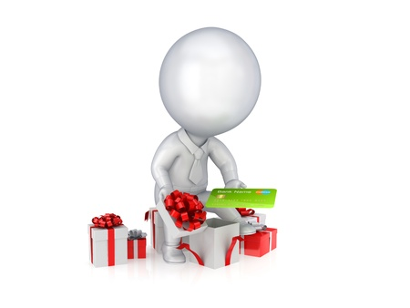 Holiday sales concept.Isolated on white background.3d rendered. Stock Photo - 12219057