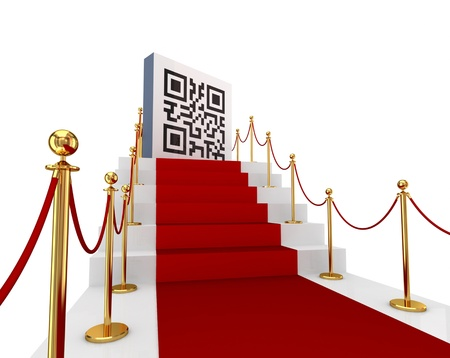 QR code concept.Isolated on white background.3d rendered. photo
