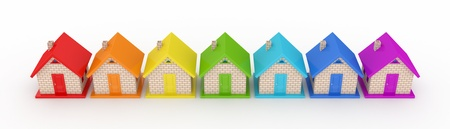 sold small: Real estate concept.Isolated on white background.3d rendered.