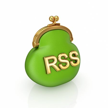 RSS concept. Isolated on white background.3d rendered. photo