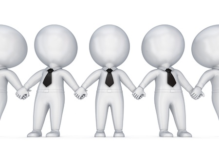 pessoas: Teamwork concept.Isolated on white background. 3d rendered.