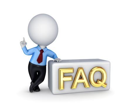 chiesto: FAQ concept.Isolated su sfondo bianco. 3D rendering.