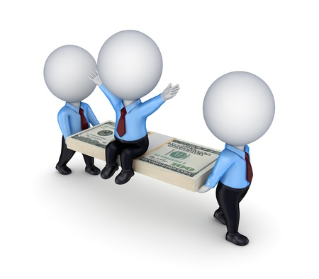 salaires: Concept de leadership. Isol� sur fond blanc background.3d rendu. Banque d'images