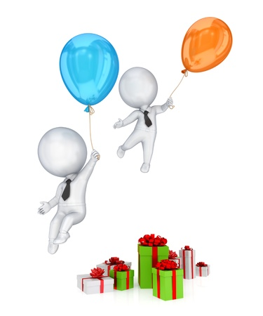 Holiday sales concept.Isolated on white background.3d rendered. photo