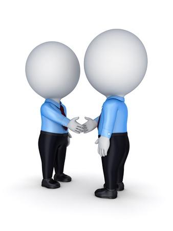 n�gocier: Les gens d'affaires se serrant la main. Isol� sur fond blanc. Banque d'images