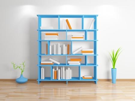 Modern bookshelf Stock Photo - 13942412