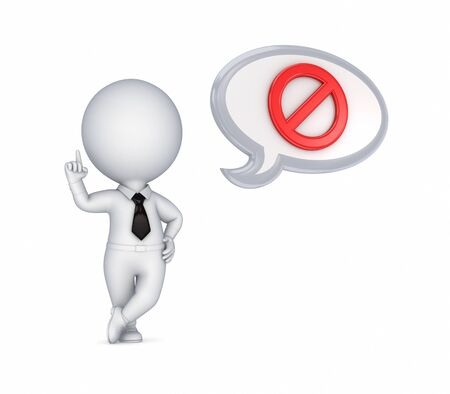 restrictions:  3d small person and red stop symbol
