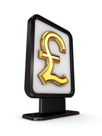Dollar sign in a lightbox  photo