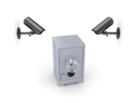Observation cameras and iron safe  photo