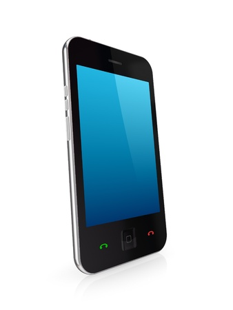 Modern mobile phone with touchscreen  photo