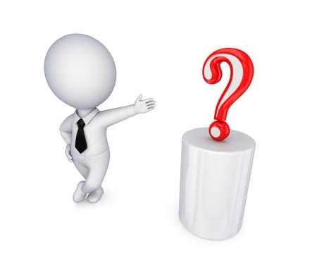 questionail: 3 � persona peque�a con una marca roja consulta