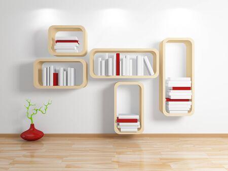 Modern shelf  photo