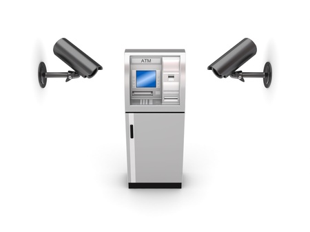 Observation cameras and ATM Stock Photo - 13968063