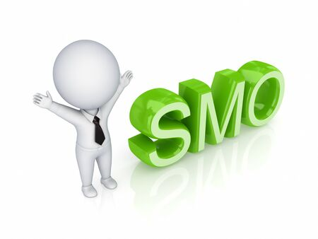 smo: 3d small person with a word SMO