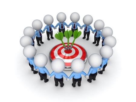 excelente: El trabajo en equipo concepto