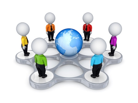 bisiness: Bisiness network concept