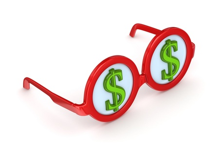 Round glasses with dollar sign Stock Photo - 14072757