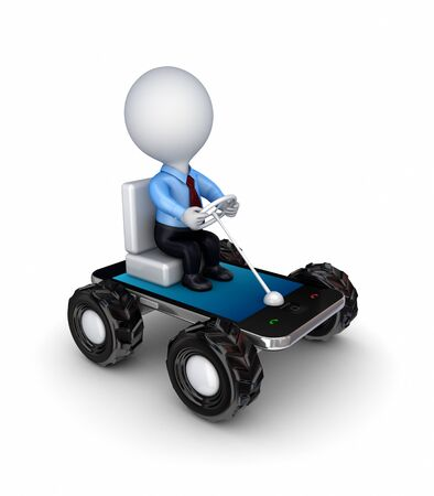 Stylized small car made of mobile phone  Stock Photo - 14072834