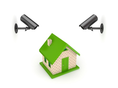 home security system: Observation cameras and small house