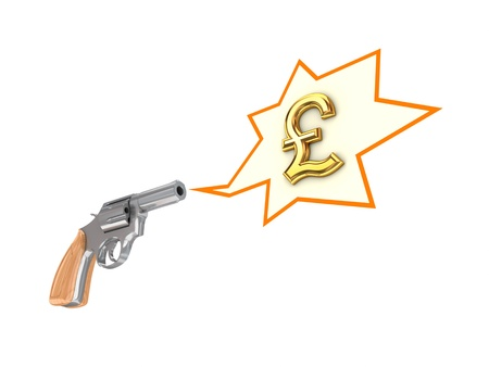 pound sterling: Revolver and pound sterling sign