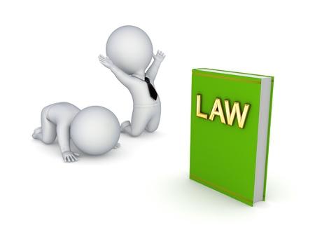 orden judicial: Ley de concepto Foto de archivo