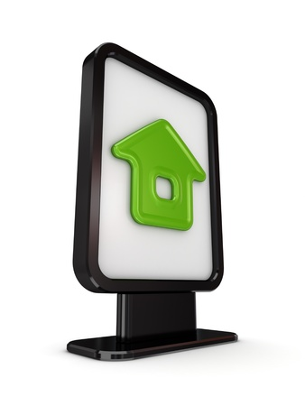 Black lightbox with Home symbol  Stock Photo - 14072113
