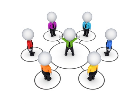 1 person: Biusiness network concept  Stock Photo