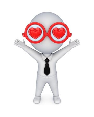 love symbols: Blind love concept